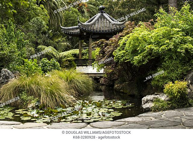 Pagoda in Queen's Garden, Nelson, South Island, New Zealand