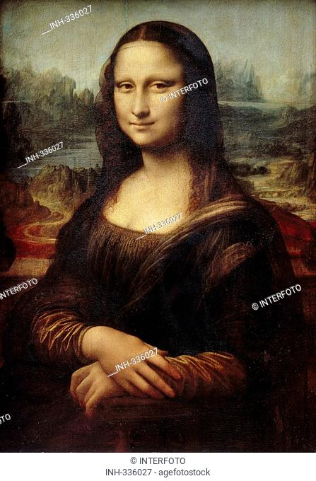fine arts, Leonardo da Vinci, 1425 - 1519, painting, Mona Lisa, La Gioconda, 1503 / 1505, oil on panel, 77 cm x 53 cm, Louvre, Paris, historic, historical
