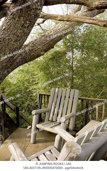 Backyard Treehouse, Smoky Mountains, North Carolina, USA