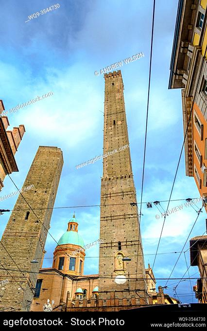 The Two Towers of Bologna (Le Due Torri), Italy - symbols of the city