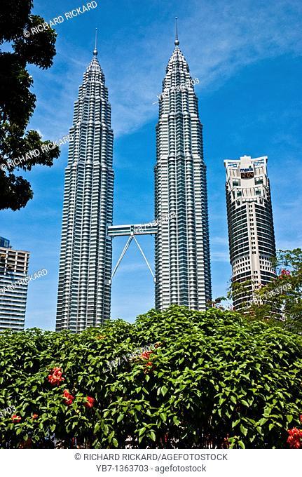 Twin Towers 88 Stories at Kuala Lumpur City Centre  Kuala Lumpur, Malaysia