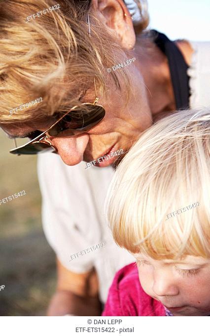 Grandmother and grandson Sweden