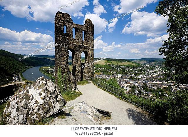 Germany, Rhineland-Palatinate, Ruin Grevenburg