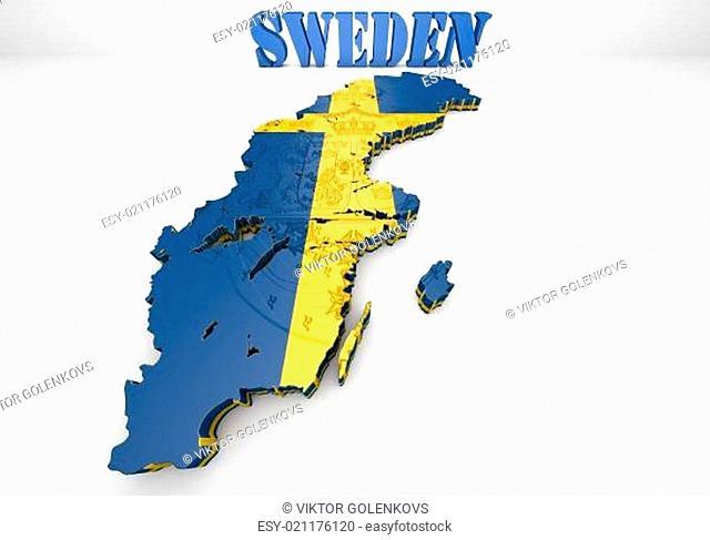 map illustration of Sweden