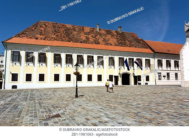 Croatian goverment building Banski dvori on Upper Town, Zagreb, Croatia, Europe