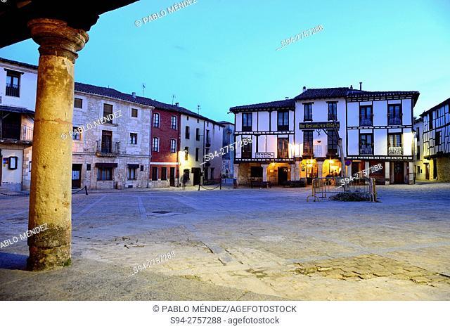 Main square of Covarrubias, Burgos, Spain
