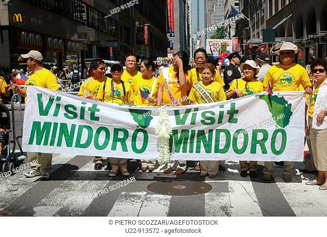 New York City (USA): group for Mindoro's island tourism development at the Philippine Independence Day Parade
