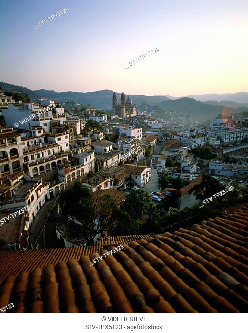 City, Holiday, Landmark, Mexico, Rooftops, Skyline, Taxco, Tourism, Travel, Vacation