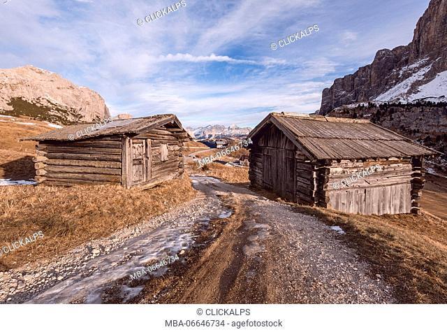 Grödner Joch, Bolzano province, Trentino - Alto Adige, Italy, Europe