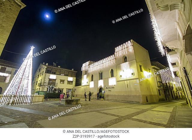 Christmas time in Rubielos de Mora in Teruel Aragon Spain