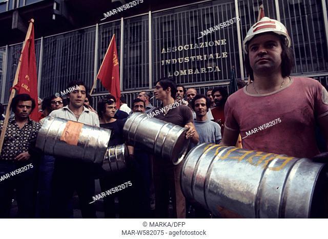 fiom demonstration, 70's