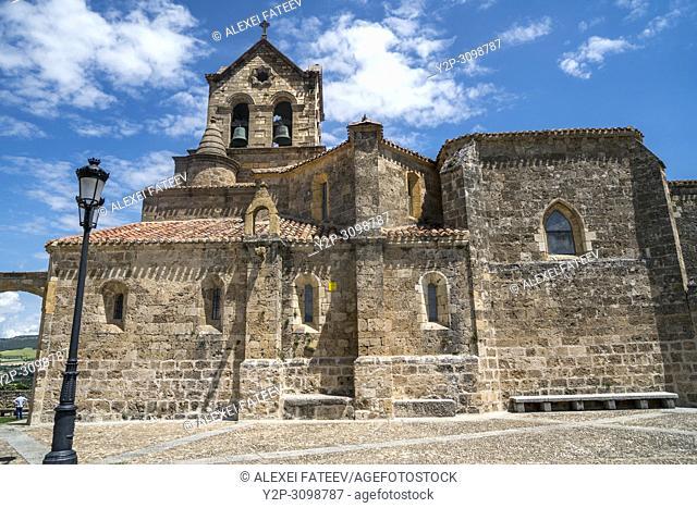 San Vicente church in a small town Frías, province of Burgos, Castile and Leon, Spain
