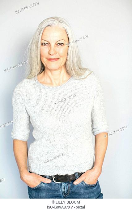 Woman in confident pose