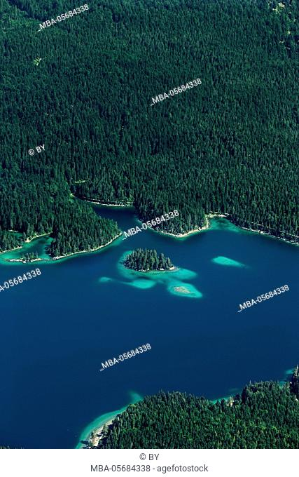 Lake Eibsee from above