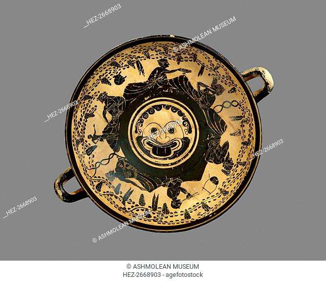 Athenian black-figure footed cup (kylix), c500 BC. Artist: Unknown