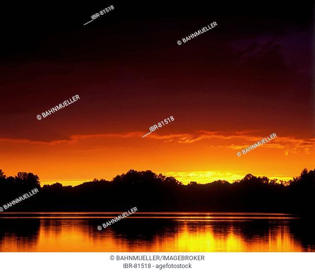 Staffelsee near Murnau Upper Bavaria Germany sunset