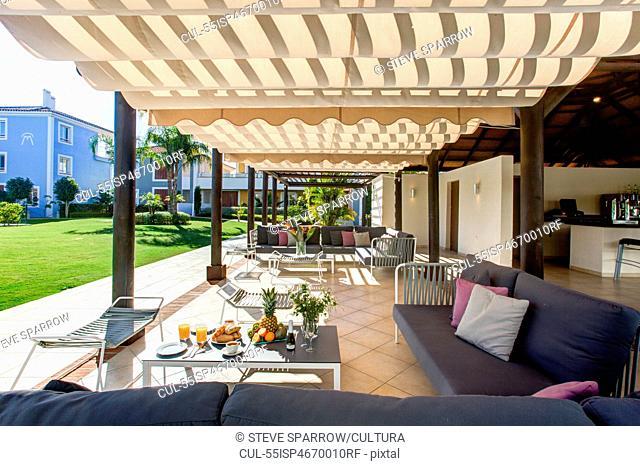 Sun terrace at holiday resort
