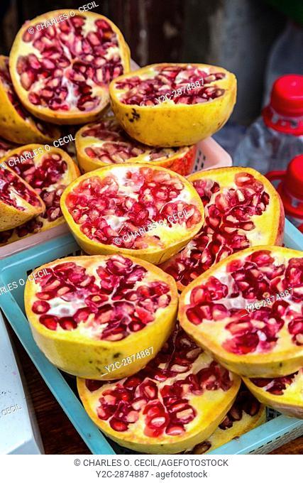 Zhenyuan, Guizhou, China. Pomegranates