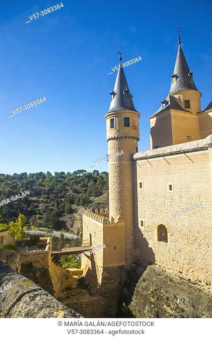 The Alcazar, close view. Segovia, Spain