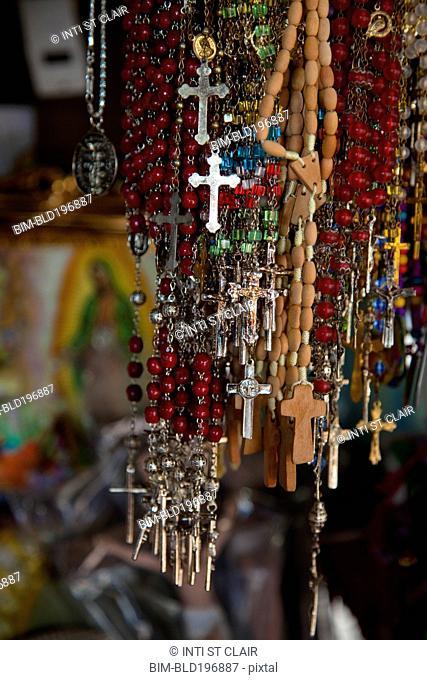 Close up of rosaries