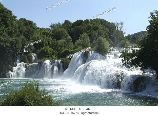 scenery, landscape, waterfall, Croatia, Europe, Krka, national park, national park, national park, waterfalls, nature