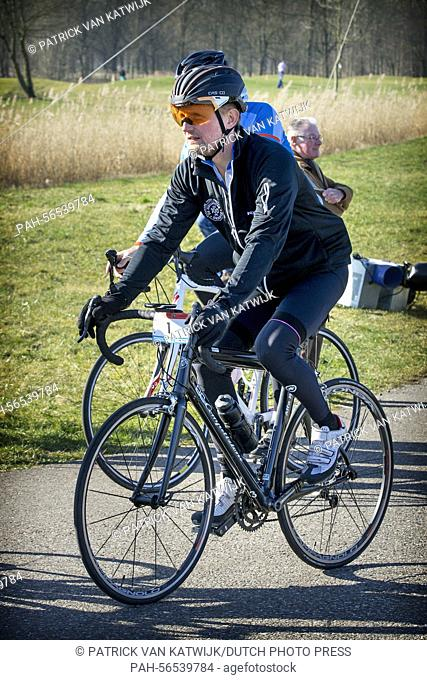 Prince Bernhard of The Netherlands attends the charity race Hollandse 100 to raise money for the foundation against lymphoma Lymph & Co