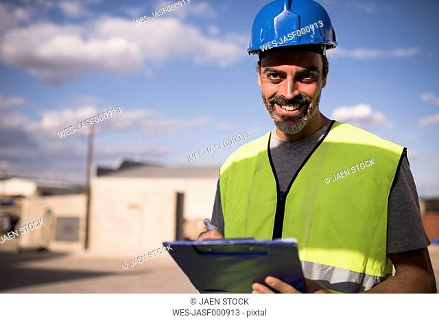 Portrait of a confident construction worker
