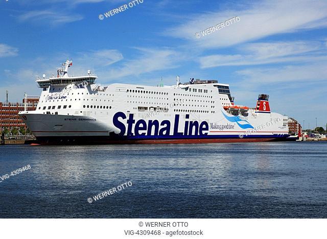 D-Kiel, Kiel Fjord, Baltic Sea, Schleswig-Holstein, Kiel harbour, terminal Schwedenkai, terminal Bollhoernkai, Stena Line ferry - Kiel, Schleswig-Holstein