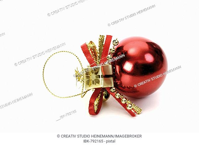 Red Christmas ball ornament