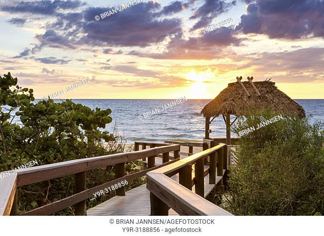 Boardwalk to Barefoot Beach, Naples, Florida, USA