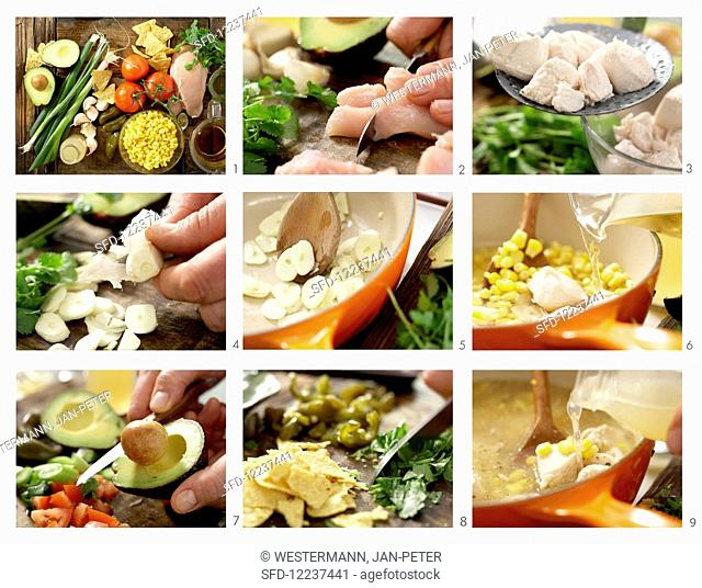 How to prepare lime and chicken soup