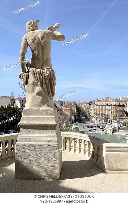Triton Sculpture at Palais Longchamp Marseille France