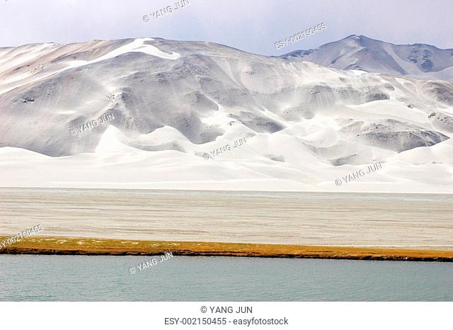 Landscape of snow mountains