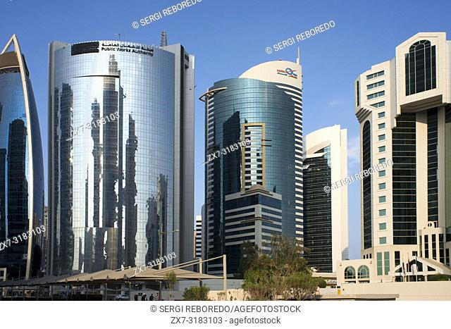 Public Works authority building in the financial area of Doha, the capital of Qatar in the Arabian Gulf country