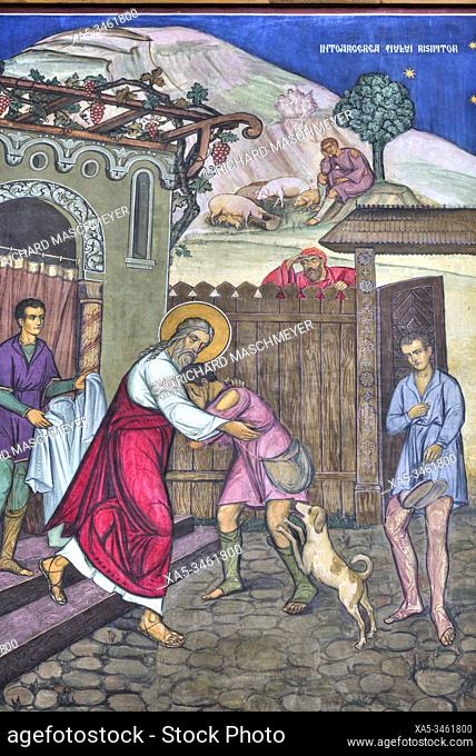 Frescoes, Holy Trinity Cathedral, Founded 1902, Sibiu, Transylvania Region, Romania