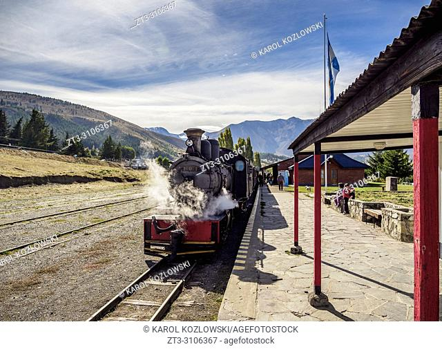 Old Patagonian Express La Trochita, steam train, Esquel Train Station, Chubut Province, Patagonia, Argentina