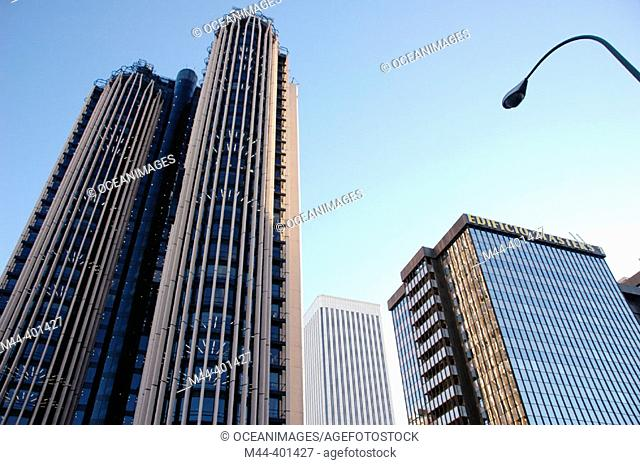 Picasso Tower and Europa Tower, Azca financial district. Madrid. Spain