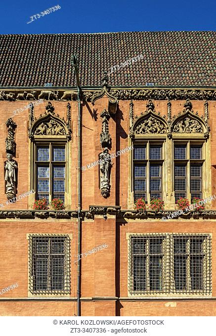 Old Town Hall, detailed view, Wroclaw, Lower Silesian Voivodeship, Poland