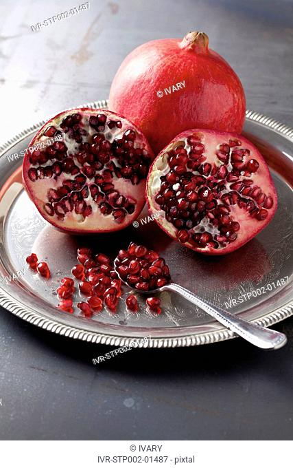 Pomegranate Fruit, One Halved