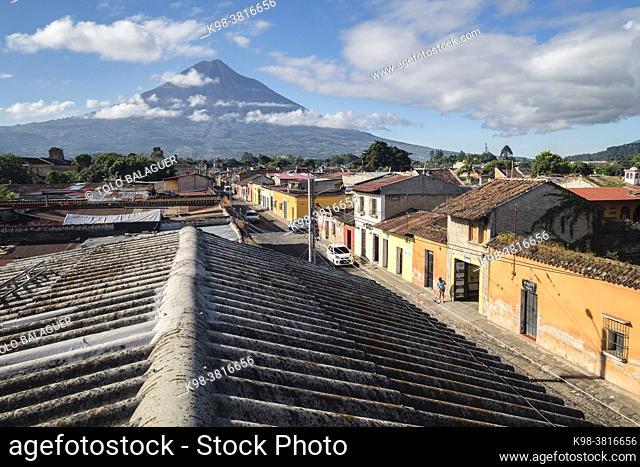 volcán de Agua, conocido como Hunahpú, Antigua Guatemala, departamento de Sacatepéquez, República de Guatemala, América Central