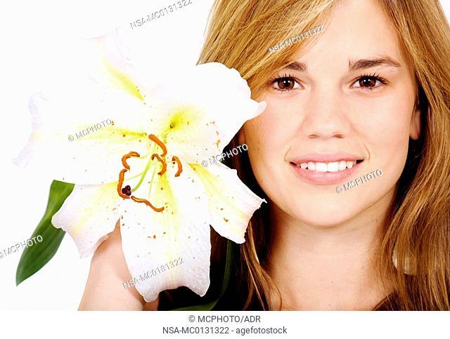 healthy girl smiling portrait