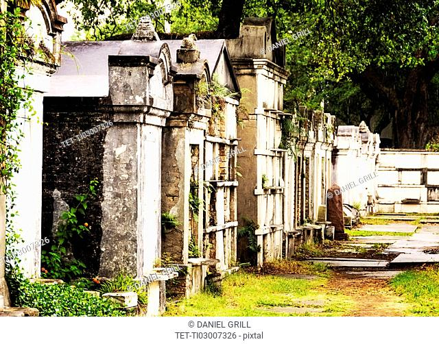 Tombs and mausoleums in old cemetery