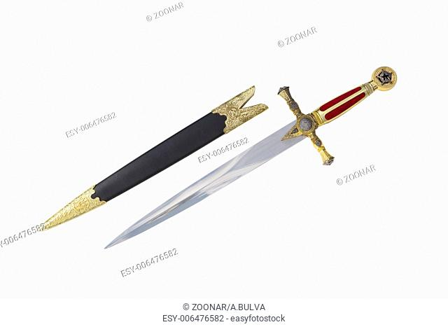 Old dagger with scabbard