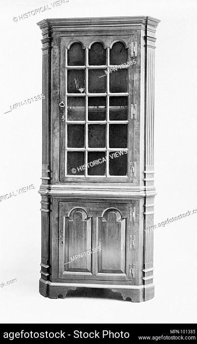 Corner Cupboard. Date: 1750-90; Geography: Made in Virginia, United States; Culture: American; Medium: Walnut, yellow pine; Dimensions: 87 1/4 x 39 1/2 x 16 in