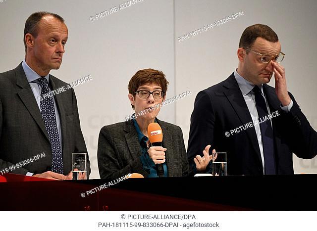 15 November 2018, Schleswig-Holstein, Lübeck: First CDU regional conference with the candidates for CDU chairmanship: XXXX The regional conference is the first...