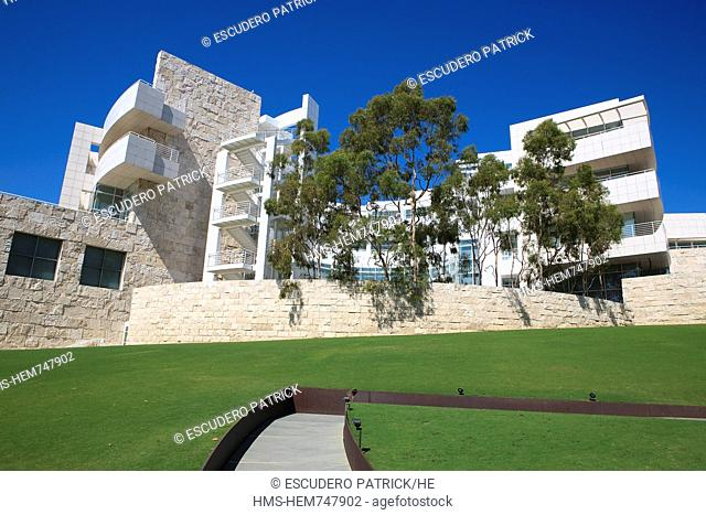 United States, California, Los Angeles, Santa Monica, the Getty Center by the architect Richard Meier