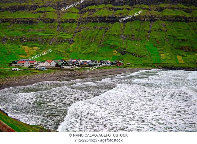 Village of Tjørnuvík, Streymoy, Faroe Islands