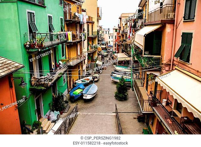 Colorful houses of Manarola Cinque Terre