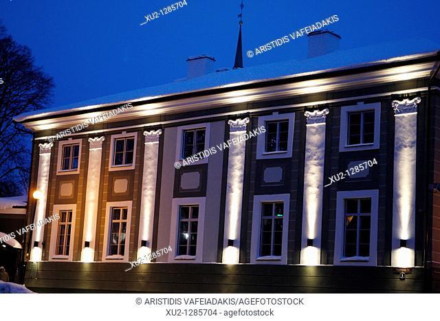 House in Toompea, upper town  Christmas in Tallin Estonia