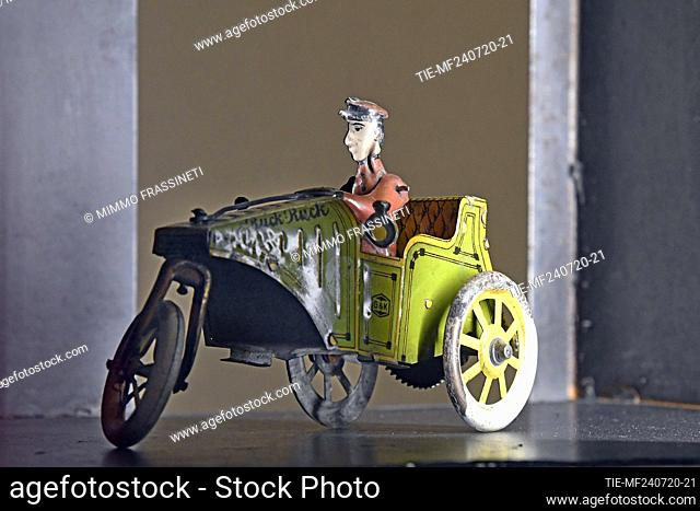 Driver in the exhibition titled ' Per gioco' from the collection of antique toys of the Capitoline Superintendence. It presents over 700 specimens of ancient...